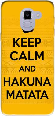 Keep Calm And Hakuna Matata Case for Samsung Galaxy J6 2018