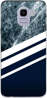 Marble Navy Case for Samsung Galaxy J6 2018