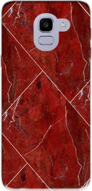 Minimal Marble Red Samsung Galaxy J6 2018 Case
