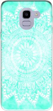 Mint Bohemian Flower Mandala Case for Samsung Galaxy J6 2018