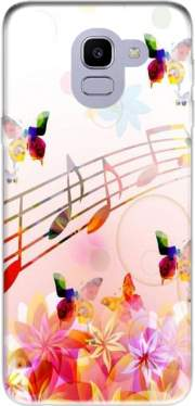 Musical Notes Butterflies for Samsung Galaxy J6 2018