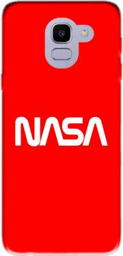 Nasa Red Logo Fail Samsung Galaxy J6 2018 Case