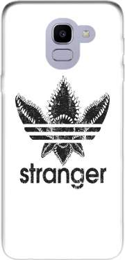 Stranger Things Demogorgon Monster JOKE Adidas Parodie Logo Serie TV Case for Samsung Galaxy J6 2018