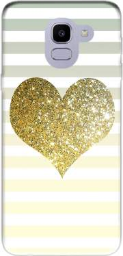 Sunny Gold Glitter Heart Case for Samsung Galaxy J6 2018