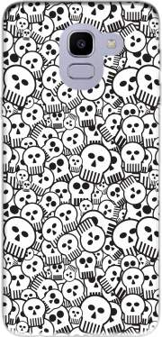 toon skulls, black and white for Samsung Galaxy J6 2018
