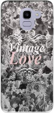 Vintage love in black and white Case for Samsung Galaxy J6 2018
