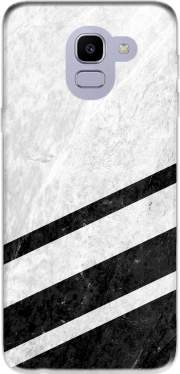 White Striped Marble for Samsung Galaxy J6 2018