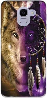 Wolf Dreamcatcher Samsung Galaxy J6 2018 Case