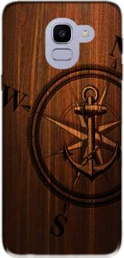 Wooden Anchor Case for Samsung Galaxy J6 2018