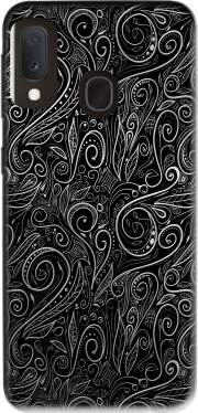 Black Silver Damasks Case for Samsung Galaxy A20E
