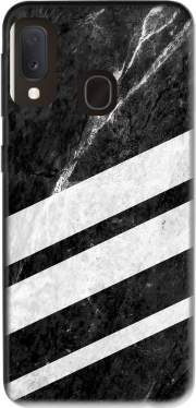 Black Striped Marble Samsung Galaxy A20E Case