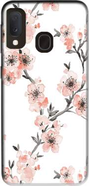 Cherry Blossom Aquarel Flower Samsung Galaxy A20E Case