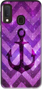 Anchor Chevron Purple Case for Samsung Galaxy A20E