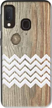 Chevron on wood Case for Samsung Galaxy A20E