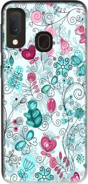 doodle flowers and butterflies Case for Samsung Galaxy A20E