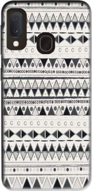 Ethnic Candy Tribal in Black and White Case for Samsung Galaxy A20E