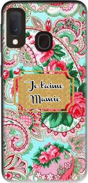 Floral Old Tissue - Je t'aime Mamie Case for Samsung Galaxy A20E