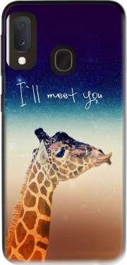 Giraffe Love - Left Samsung Galaxy A20E Case