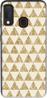 Glitter Triangles in Gold Case for Samsung Galaxy A20E