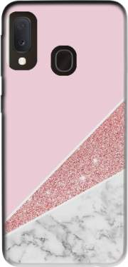 Initiale Marble and Glitter Pink Case for Samsung Galaxy A20E