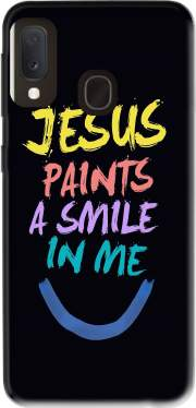 Jesus paints a smile in me Bible Case for Samsung Galaxy A20E