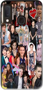Millie Bobby Brown collage Samsung Galaxy A20E Case