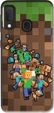 Minecraft Creeper Forest Case for Samsung Galaxy A20E
