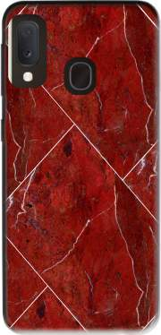Minimal Marble Red Case for Samsung Galaxy A20E