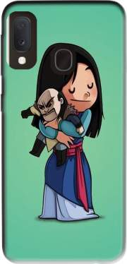 Mulan give hugs to vilain Samsung Galaxy A20E Case