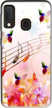 Musical Notes Butterflies Case for Samsung Galaxy A20E