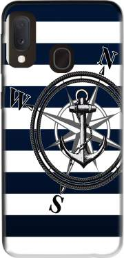 Navy Striped Nautica Case for Samsung Galaxy A20E