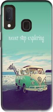 Never Stop Exploring - Lamas on Holidays Case for Samsung Galaxy A20E