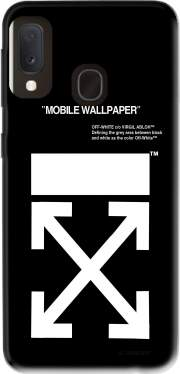 Off White Samsung Galaxy A20E Case