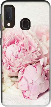 peonies on white Samsung Galaxy A20E Case