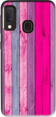 Pink wood Case for Samsung Galaxy A20E