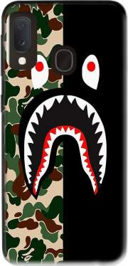 Shark Bape Camo Military Bicolor Case for Samsung Galaxy A20E