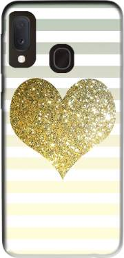 Sunny Gold Glitter Heart Case for Samsung Galaxy A20E