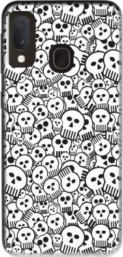 toon skulls, black and white for Samsung Galaxy A20E