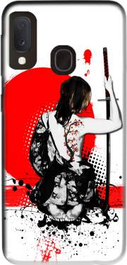 Trash Polka - Female Samurai Case for Samsung Galaxy A20E