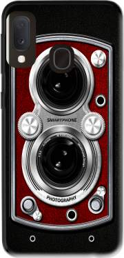 Vintage Camera Red Case for Samsung Galaxy A20E