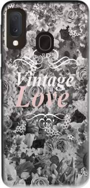 Vintage love in black and white Case for Samsung Galaxy A20E