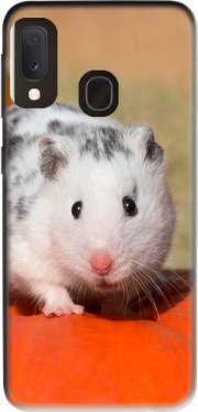 White Dalmatian Hamster with black spots  Case for Samsung Galaxy A20E