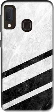 White Striped Marble Samsung Galaxy A20E Case