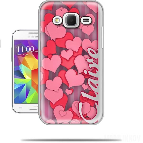 Favori Heart Love - Claire Samsung Galaxy Core Prime Case - Wallet Case WM77