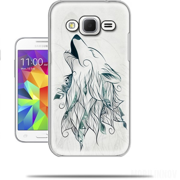 Case Wolf for Samsung Galaxy Core Prime .