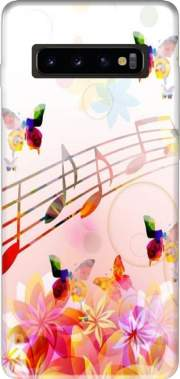 Musical Notes Butterflies Case for Samsung Galaxy S10