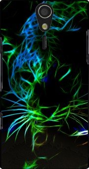 Abstract neon Leopard Case for Sony Ericsson Xperia S HD