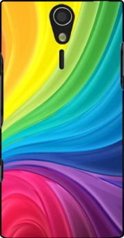 Rainbow Abstract Case for Sony Ericsson Xperia S HD