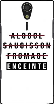 Alcool Saucisson Fromage Enceinte Case for Sony Ericsson Xperia S HD