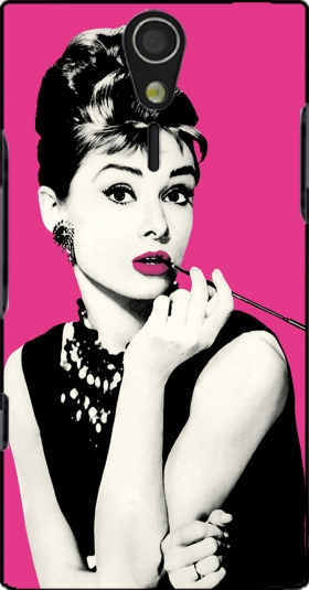 Case audrey hepburn for Sony Ericsson Xperia S HD